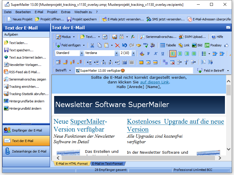 HTML Newsletter-Software E-Mail Marketing Software SuperMailer