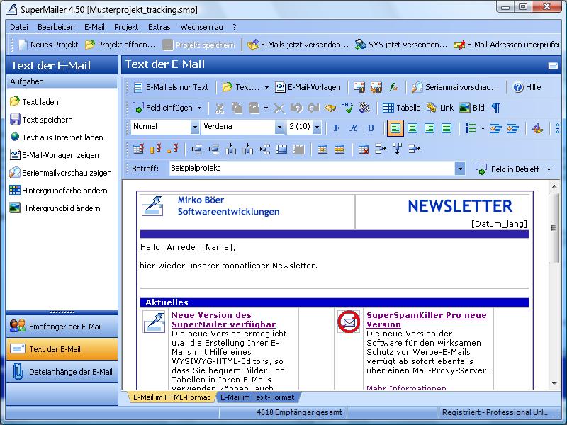 newsletter erstellen mit der newsletter software e mail