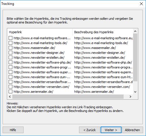 19c92840db Auf keinen Fall darf der Link für die direkte Abmeldung vom Newsletter  getrackt werden, da dieser nicht mehr funktionieren wird.